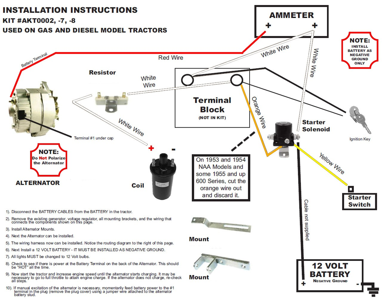 960 Ford Tractor Wiring Diagram - Electricity Site  Ford Tractor Starter Solenoid Wiring Diagram on