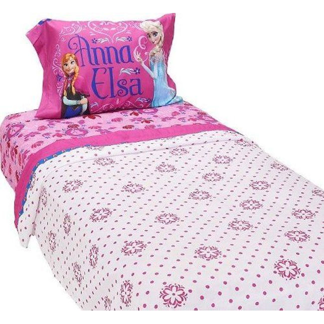 Franco Manufacturing Company Inc 18082853 Disney Frozen Bed Sheet Set Elsa And Anna Sister Love Bedding Accessories