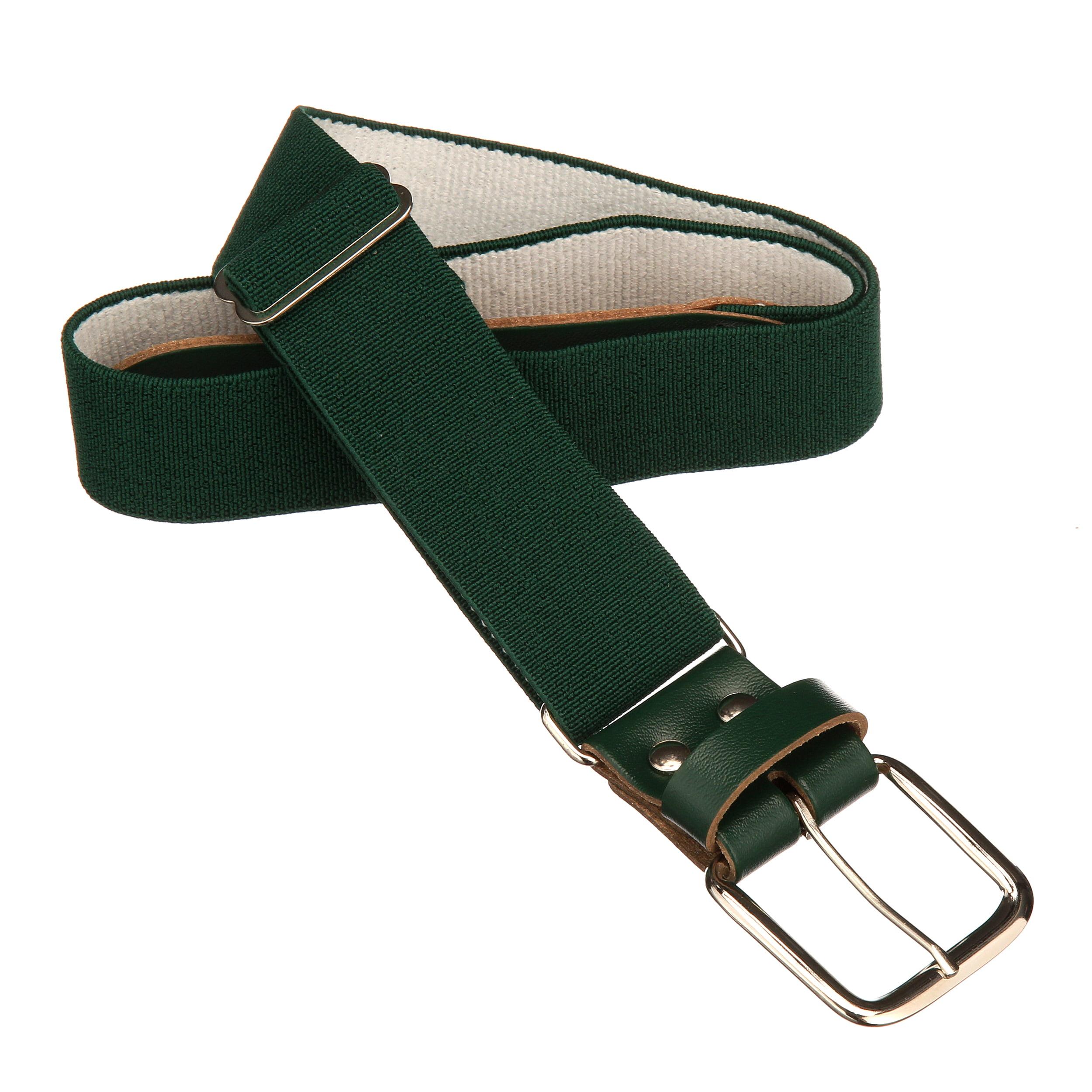 Dark Green Wilson Adult Elastic Baseball Belt