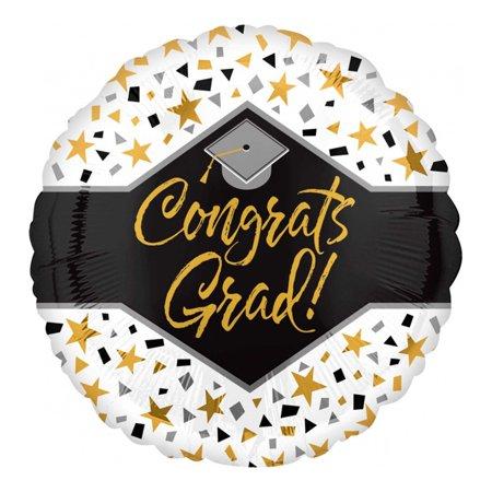 Congrats Grad Stars Confetti Graduation 18