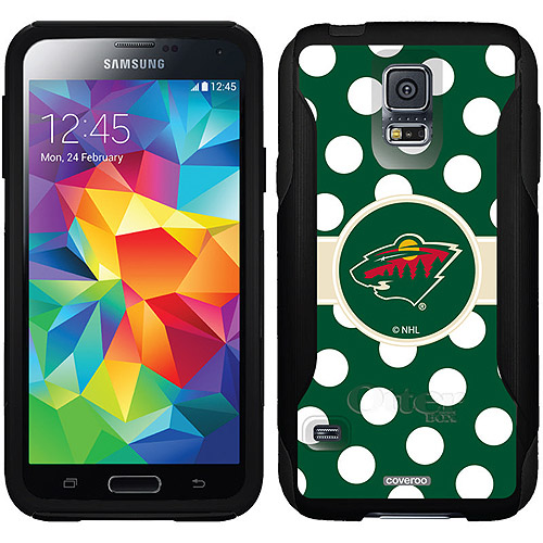 Minnesota Wild Polka Dots Design on OtterBox Commuter Series Case for Samsung Galaxy S5