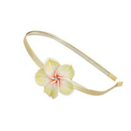 Hawaiian Flower Tiera - Flower Petal Headband (Yellow)