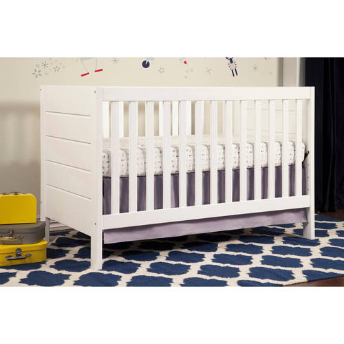 Baby Mod Modena  3-in-1 Fixed Side Crib, White