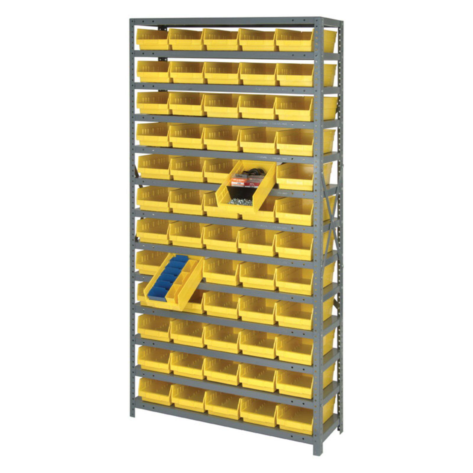 Quantum Complete Shelf Bin Storage System - 96 Bin