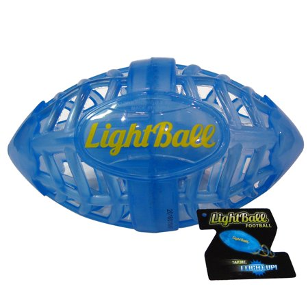 TANGLE Lightball Football, Blue - Glow in The Dark Light Up LED Football - NEW - Glow In The Dark Blacklight