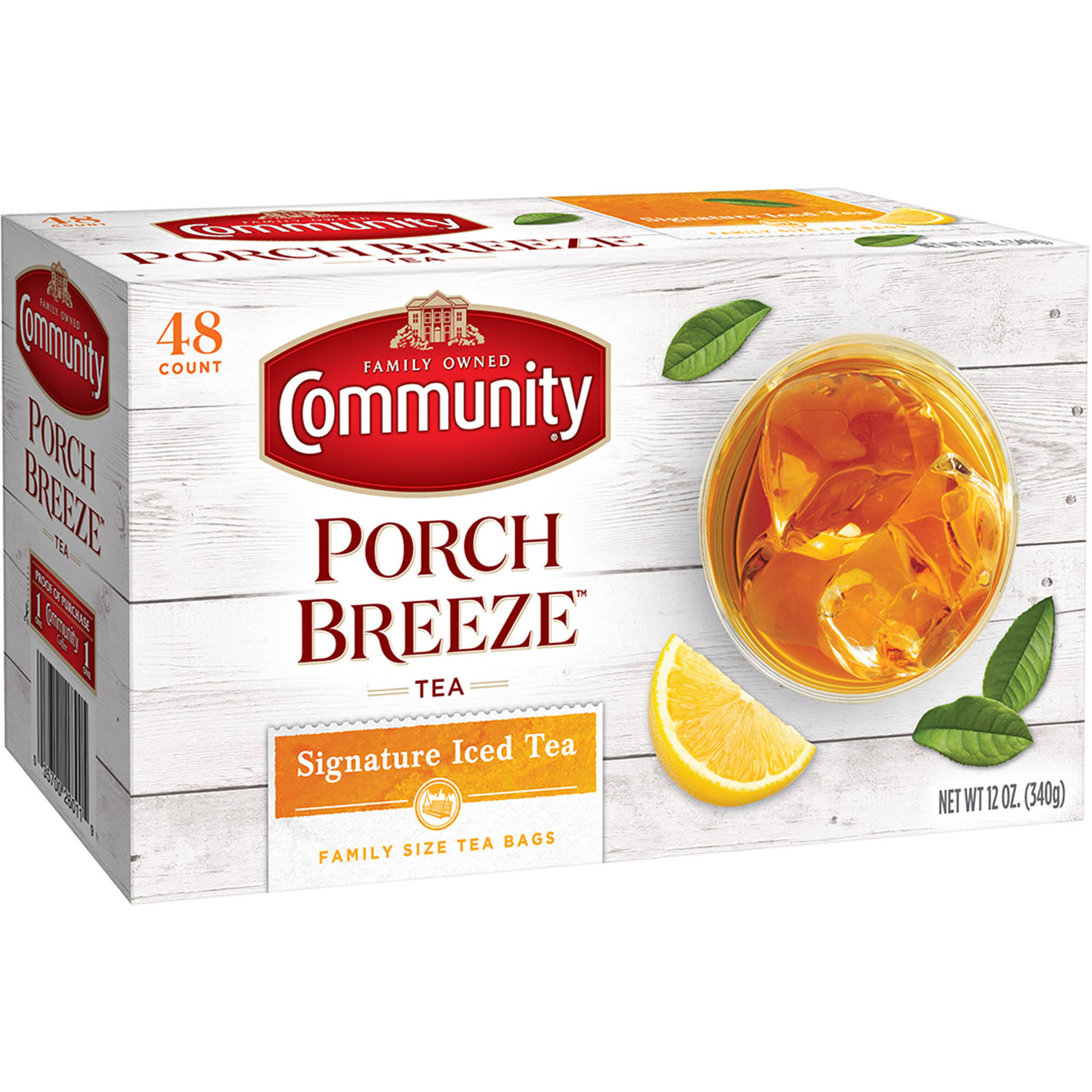 Community Family Size Tea Bags, 12 oz, 48 count
