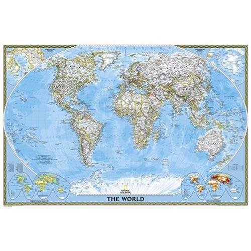 National Geographic Maps RE01020381 World Classic Poster Size Laminated