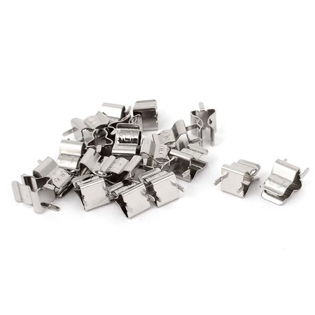Fuze Clip - 20 Pcs Silver Tone Clips Holder bracket for 6mm x 30mm Fuse