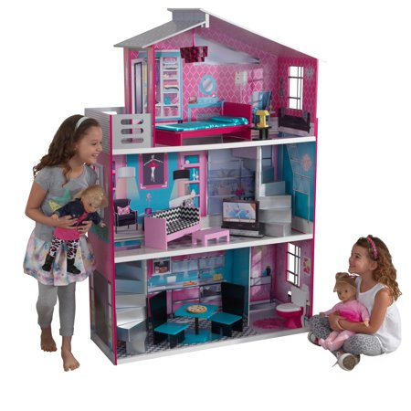 KidKraft Breanna Wooden Dollhouse for 18-Inch Dolls with 12 accessories included ()