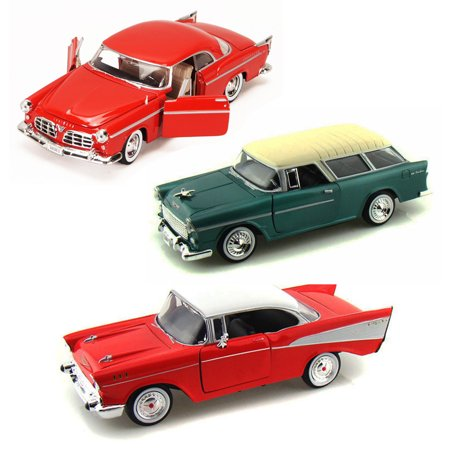 Best of 1950s Diecast Cars - Set 60 - Set of Three 1/24 Scale Diecast Model