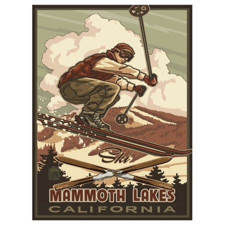 Catching Air Snowboarder Mammoth Lakes California Travel Art Print Poster by Paul A. Lanquist (9