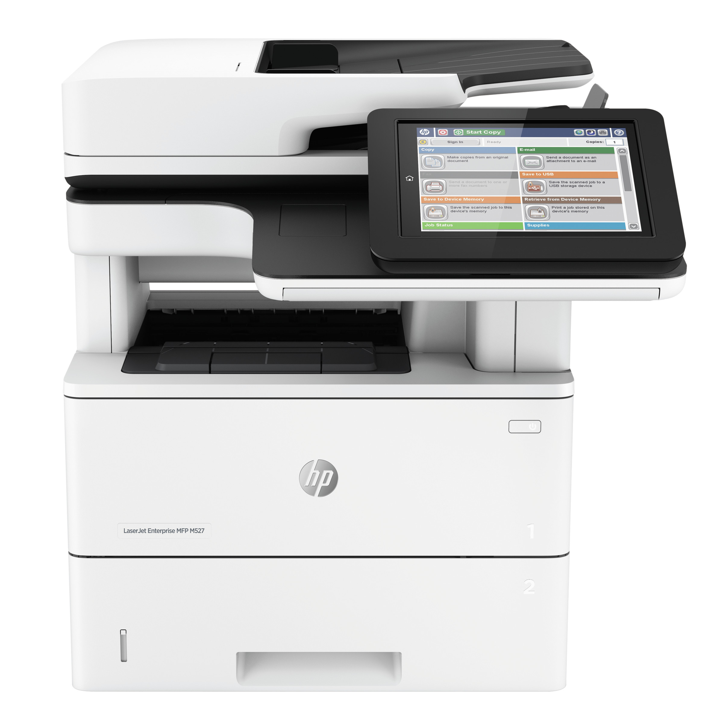HP LaserJet Enterprise MFP M527dn Multifunction Laser Printer, Copy Print Scan by HP