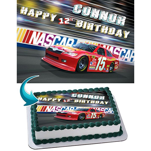 Awe Inspiring Nascar Racing Cars Edible Image Cake Topper Personalized Birthday Birthday Cards Printable Opercafe Filternl