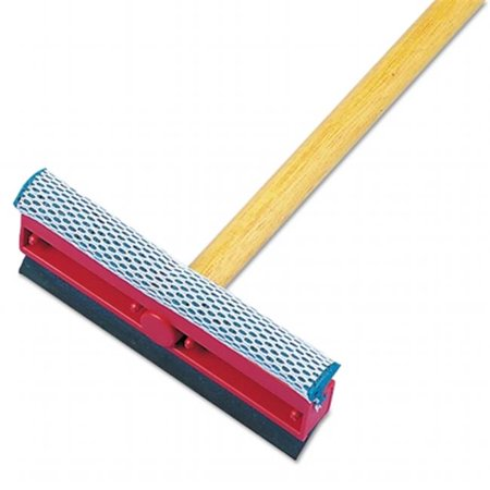 Boardwalk 824 General-Duty Squeegee, 8 in. Sponge & Rubber Blade, 21 in. Metal Handle Ideal for windows. Black rubber blade. Synthetic 8 inch sponge head covered in nylon mesh for durability and abrasive scrubbing that won't scratch or damage surfaces. 21 inch metal handle. Sold individually. Unisan General-Duty 8  Squeegee, 21  Handle, Each CleanItSupply.com - The wholesale janitorial supply company buyers trust.
