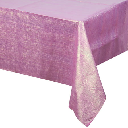 Camouflage Table Cover Plastic (Way to Celebrate Pink Shimmer Iridescent Plastic Tablecloth 54