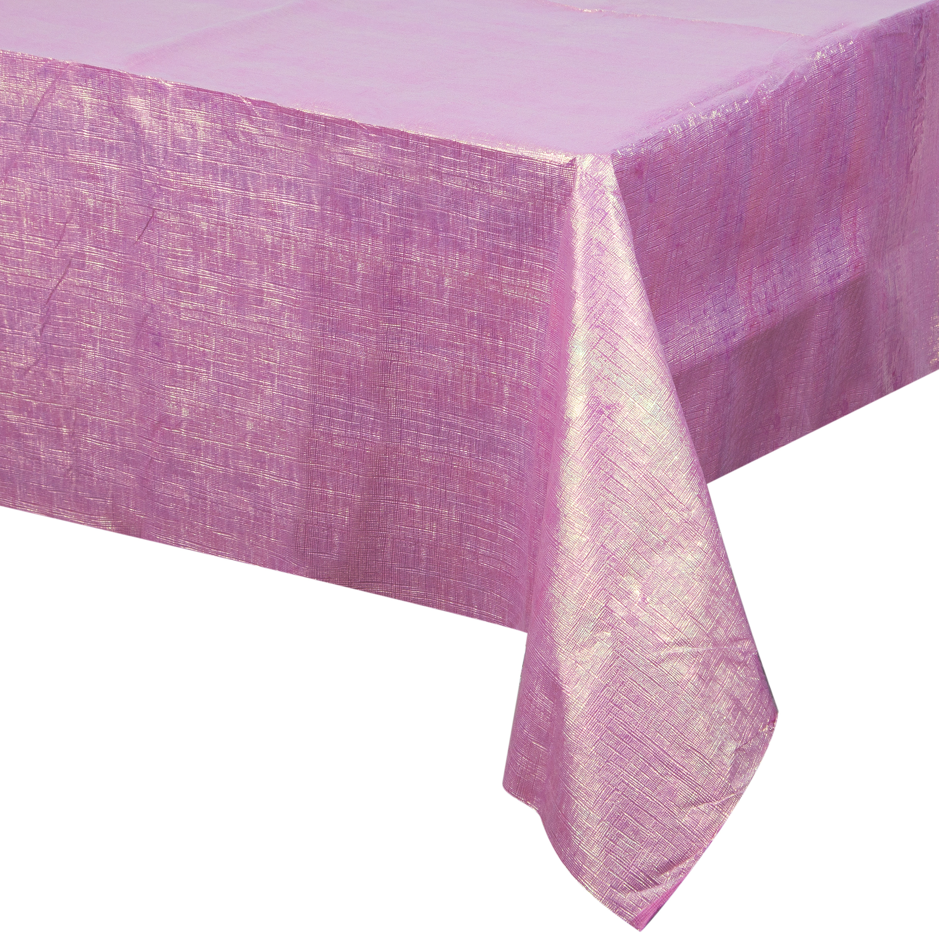 "Way to Celebrate Pink Iridescent 54"" x 102"" Plastic Tablecloth"