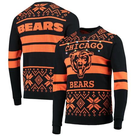Chicago Bears Light Up Ugly Sweater - Navy/Orange ()