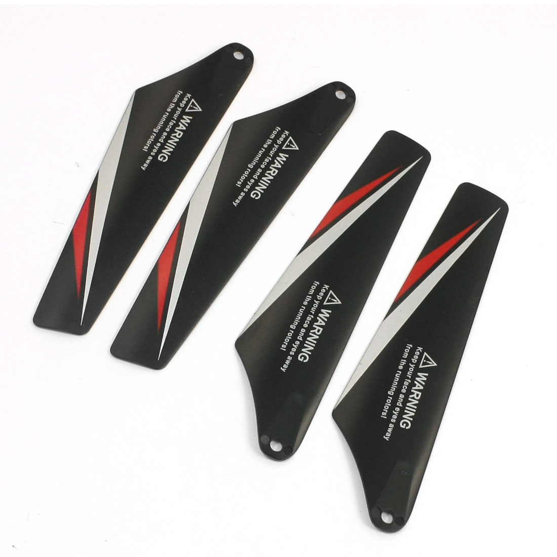 4 x Black Plastic Main Vane A B for RC Radio Control Syma S107C Helicopter
