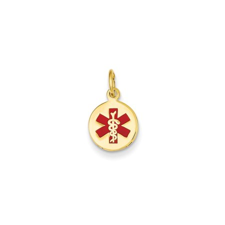 14k Yellow Gold Medical Jewelry Pendant - .7 Grams
