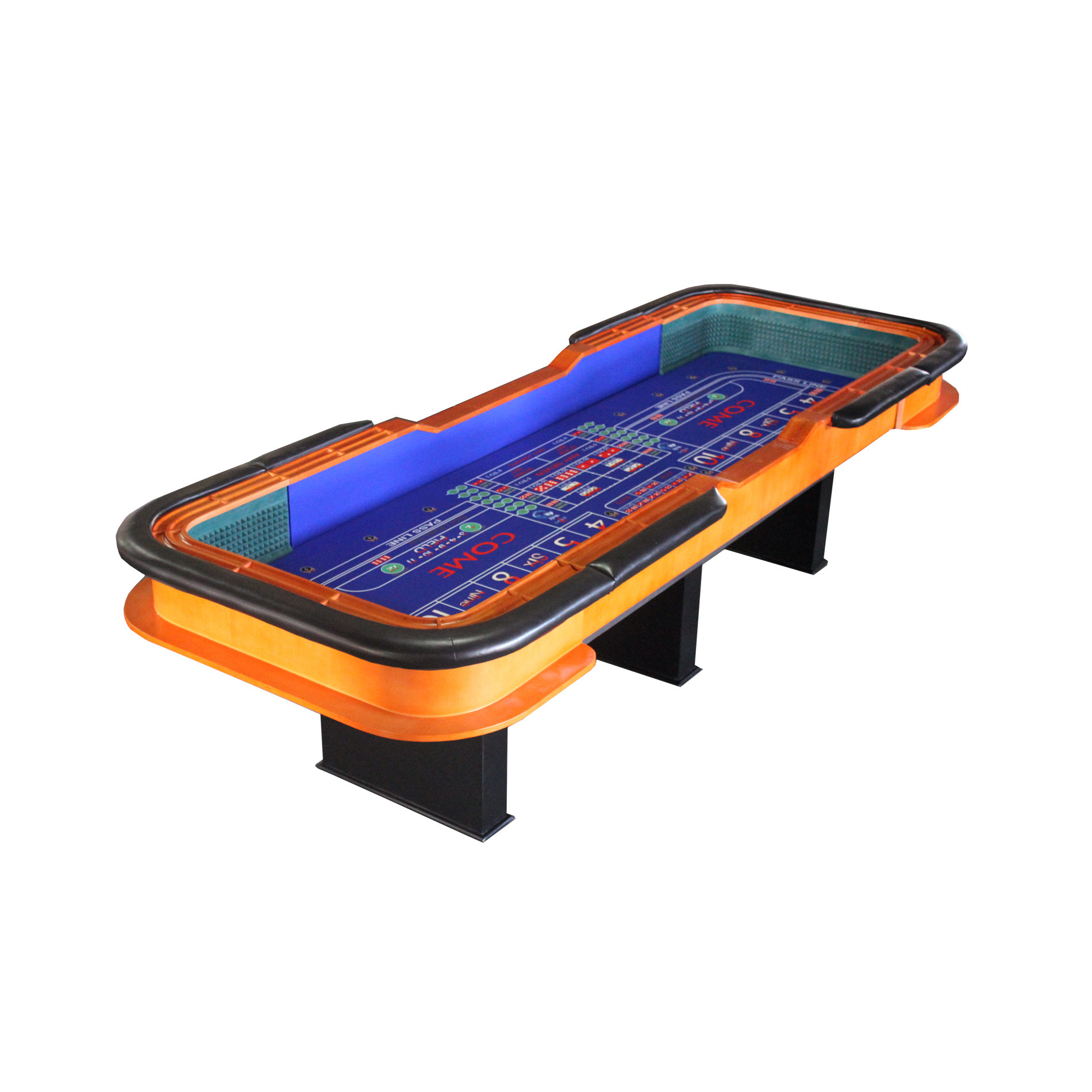 12 Foot Deluxe Craps Dice Table with Diamond Rubber Casino Game Table
