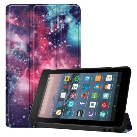 Allytech Fire 7 Case (9th Generation, 2019 Released), Ultra Slim Lightweight Shockproof Trifold Stand Folio Smart Shell Auto Sleep Wake Protective Case Cover for All-New Amazon Fire 7 2019,