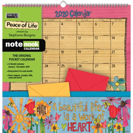 2020 Peace of Life Pocket Wall Calendar, by Wells Street by LANG (Rifle Paper Calendar)