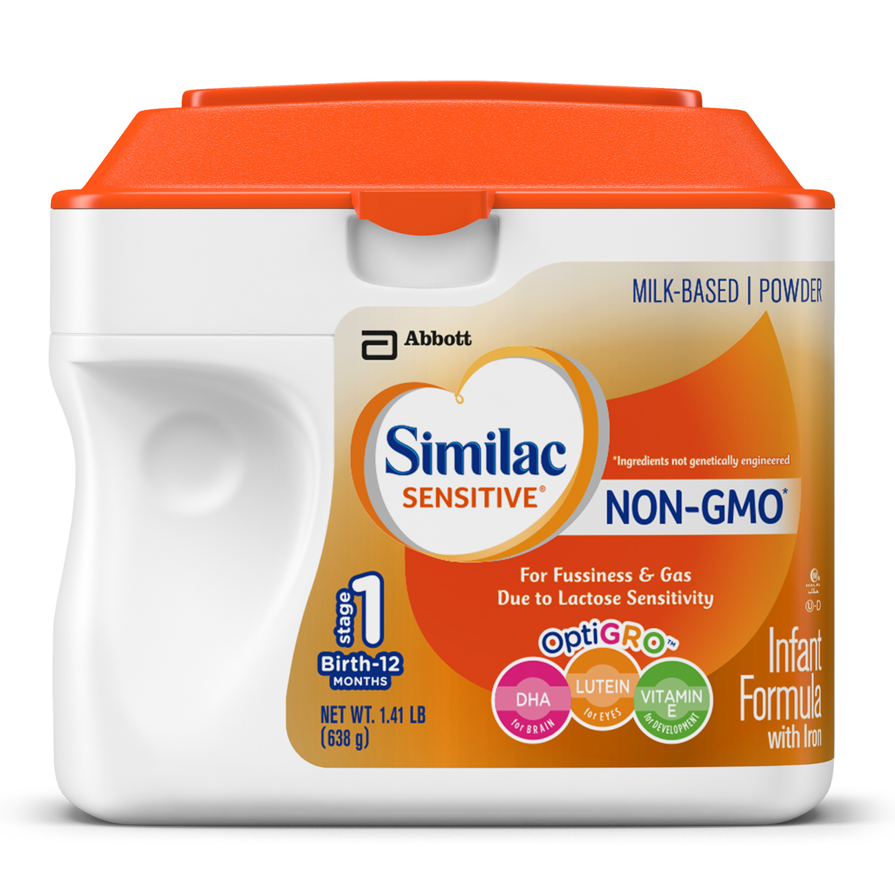 Similac Sensitive NON-GMO Milk-Based Infant Formula with Iron, Powder, 1.41 lbs