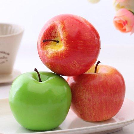 1 Pcs Lifelike Artificial Fake Fruits Faux Foam Apples Home House Kitchen Cabinet Decoration Size:green - Foam Apples
