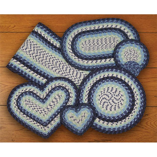 Earth Rugs 61-312 Blueberry-Creme Heart Trivet