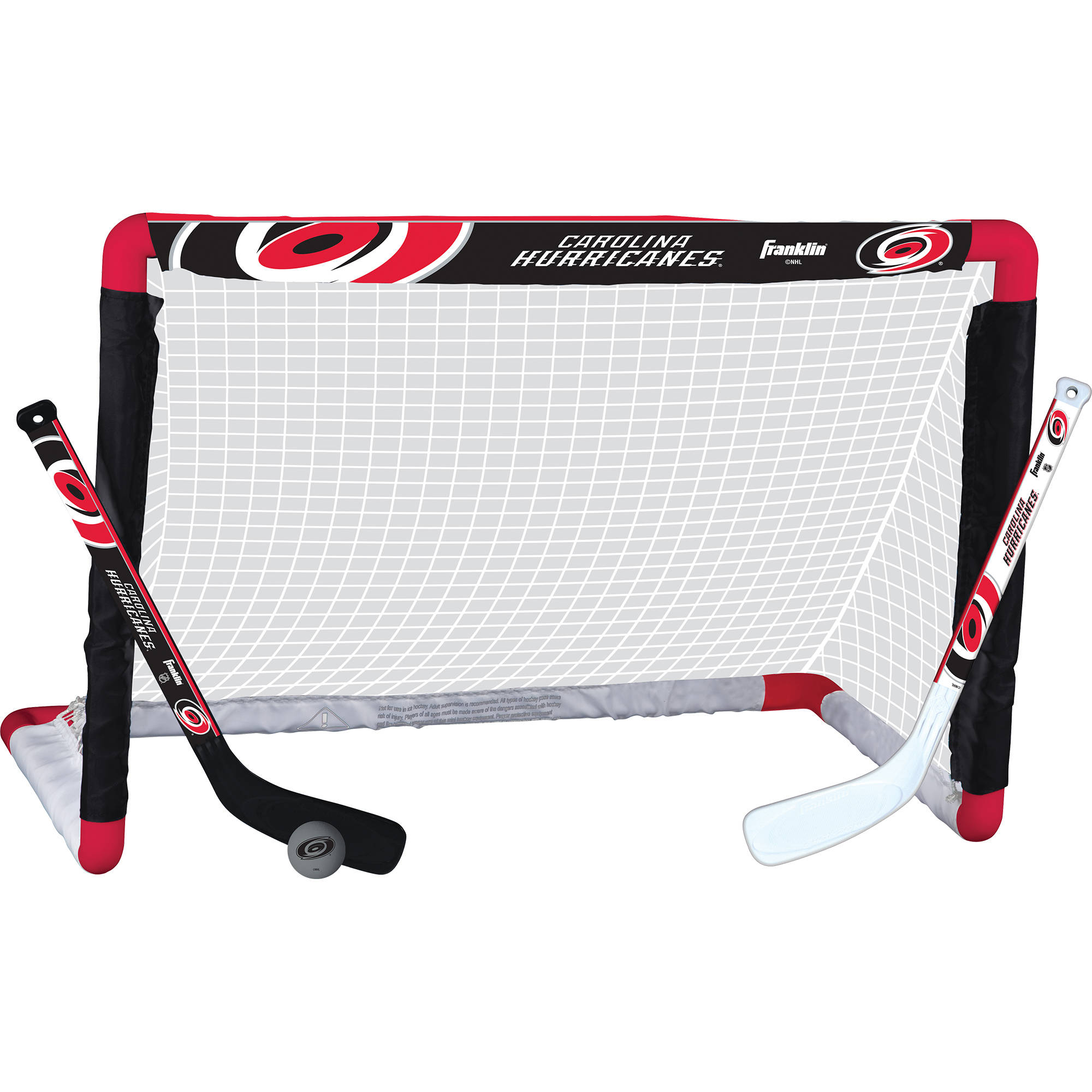 Franklin Sports NHL Carolina Hurricanes Mini Hockey Set