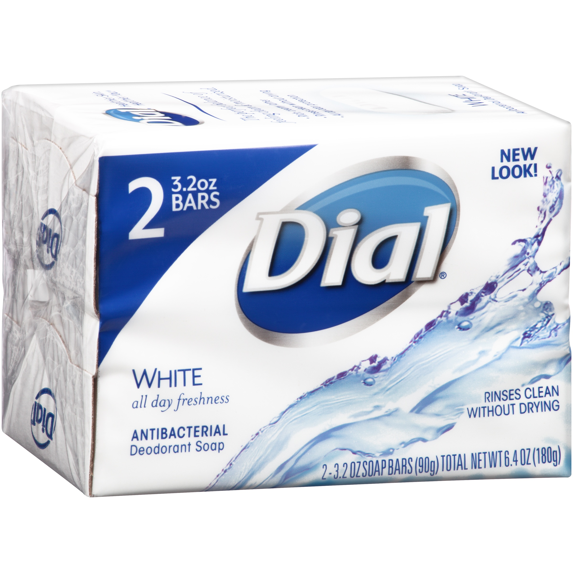 Dial® White Antibacterial Deodorant Soap 2 - 3.2 oz. Pack