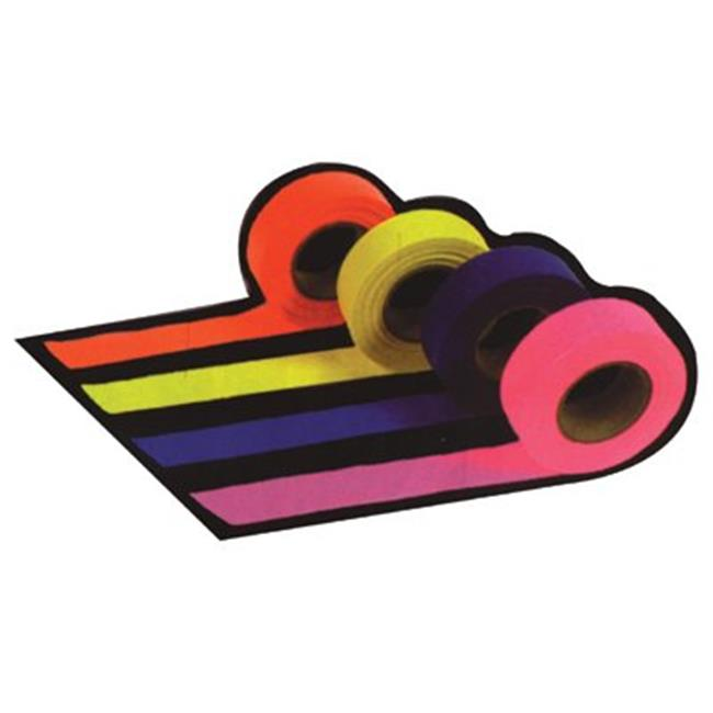Presco 764-FLAG-PINK 1-.19X300 in.  Pink Flagging Tape Roll
