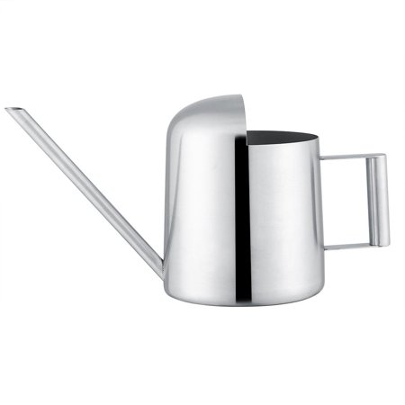 Image of Hilitand Watering Pot?Stainless Steel Watering Can 300/500mL Garden Plant Flower Long Mouth Sprinkling Pot, Plant Watering Can, Stainless Steel Watering Can