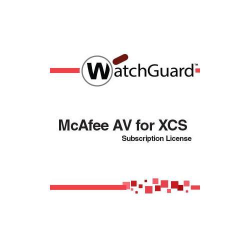 WatchGuard McAfee AV for XCS Subscription license ( 1 year ) 2500 seats by WatchGuard