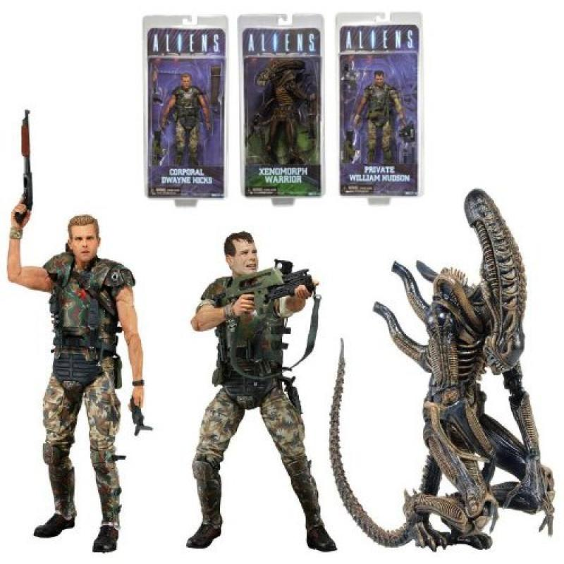 "Neca Aliens Series 1 7"" Action Figures Set of 3 by"