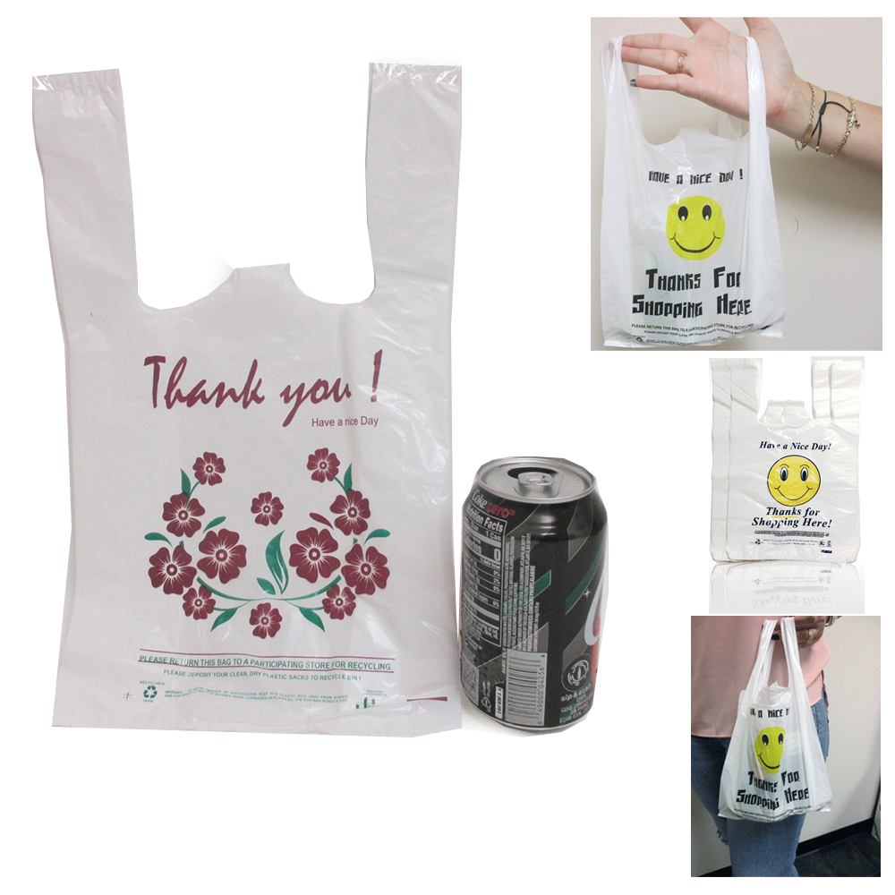 700 Pc T Shirt Thank You Retail Smiley 15 X 8 Shopping Grocery Store Bags Small