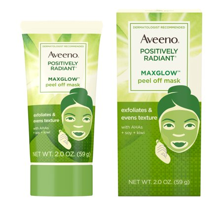 Aveeno Positively Radiant MaxGlow Peel Off Exfoliating Face Mask, 2 oz - Funny Face Mask