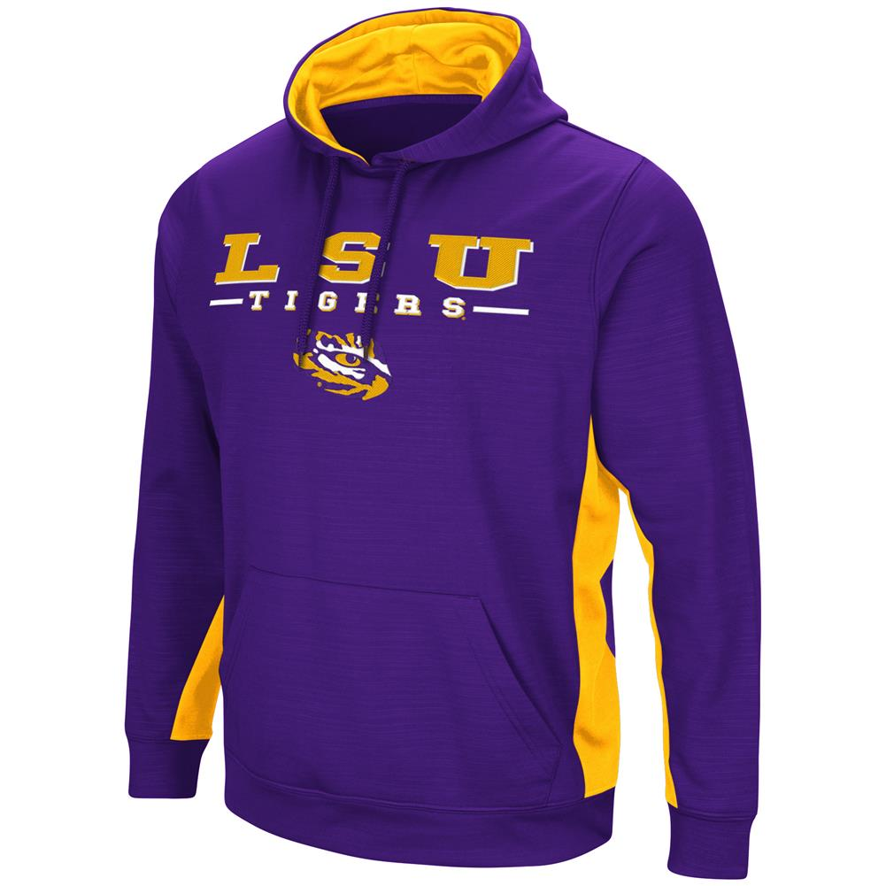 LSU Tigers Louisiana State Hoodie Performance Fleece Pullover Jacket by Colosseum