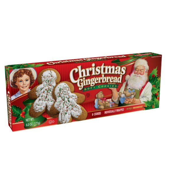 Little Debbie Family Pack Christmas Gingerbread Cookies, 6 oz