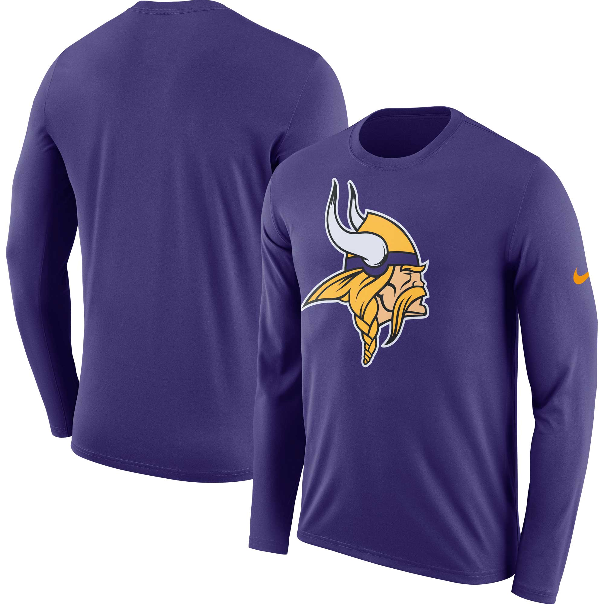 Minnesota Vikings Nike Fan Gear Primary Logo Long Sleeve Performance T-Shirt - Purple - 3XL