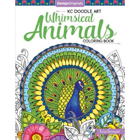 Kc Doodle Art Whimsical Animals Coloring Book (Doodle Art)