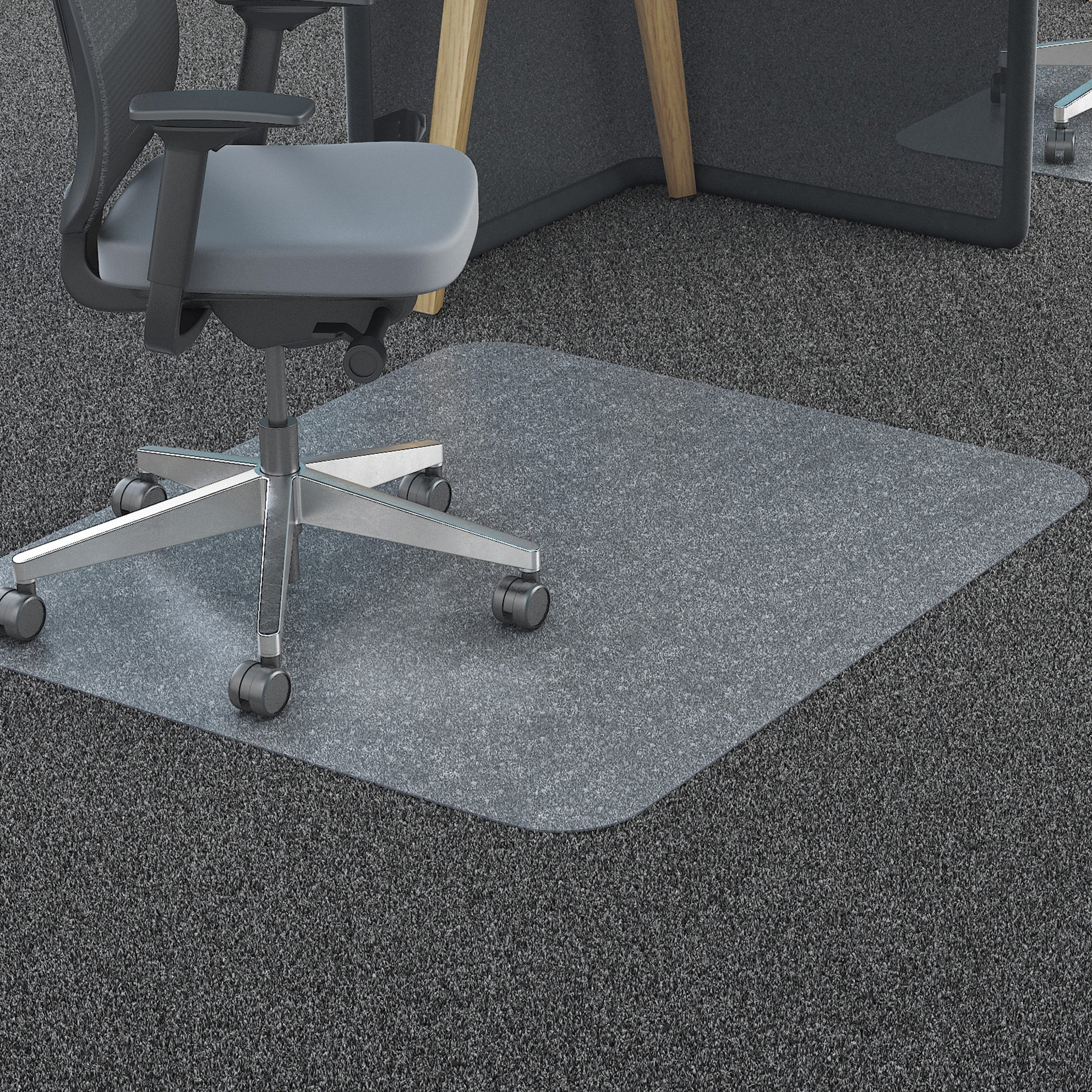 Deflecto 36 x 48 Chair Mat for Carpet and Hard Floor, Rectangular