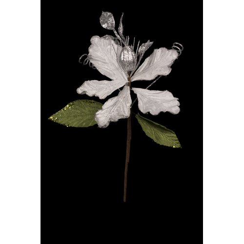 The Holiday Aisle Medium Pick Stem with Leaves (Set of 8)