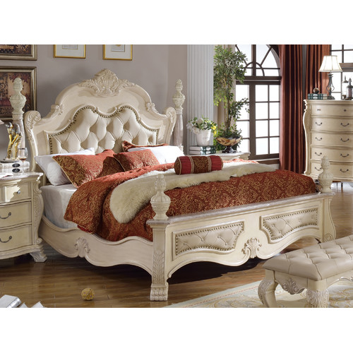 Meridian Furniture USA Monaco Upholstered Panel Bed