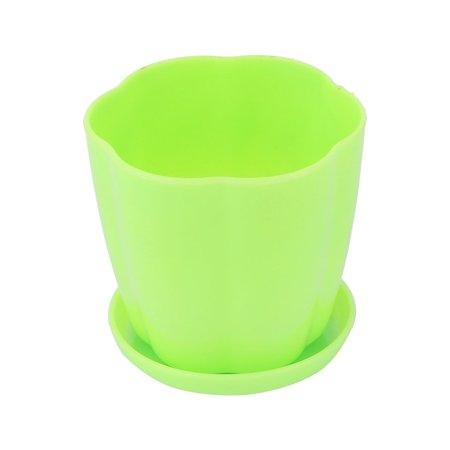 Bureau à maison Jardin Décoration table Plastique pot à fleurs porte-Semoir Vert - image 3 de 3