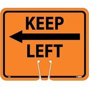 CS8 National Marker Safety Cone Keep Left Sign