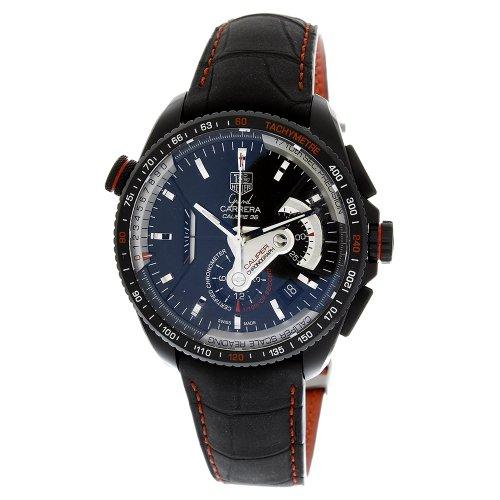 Tag Heuer Men's CAV5185.FC6237 Grand Carrera Leather Stra...
