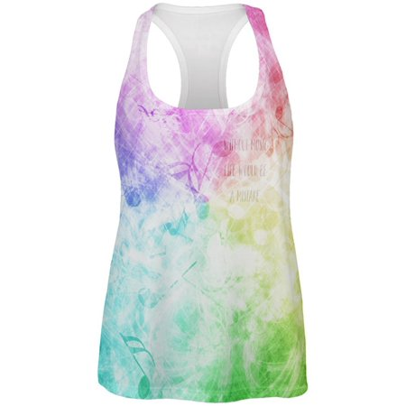 Without Music Life Would Be A Mistake All Over Womens Work Out Tank Top