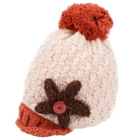 Cute Toddler Kids Girl&Boy Winter Warm Visor Crochet Knit Hat Beanie (Warm Winter Visor Cap)