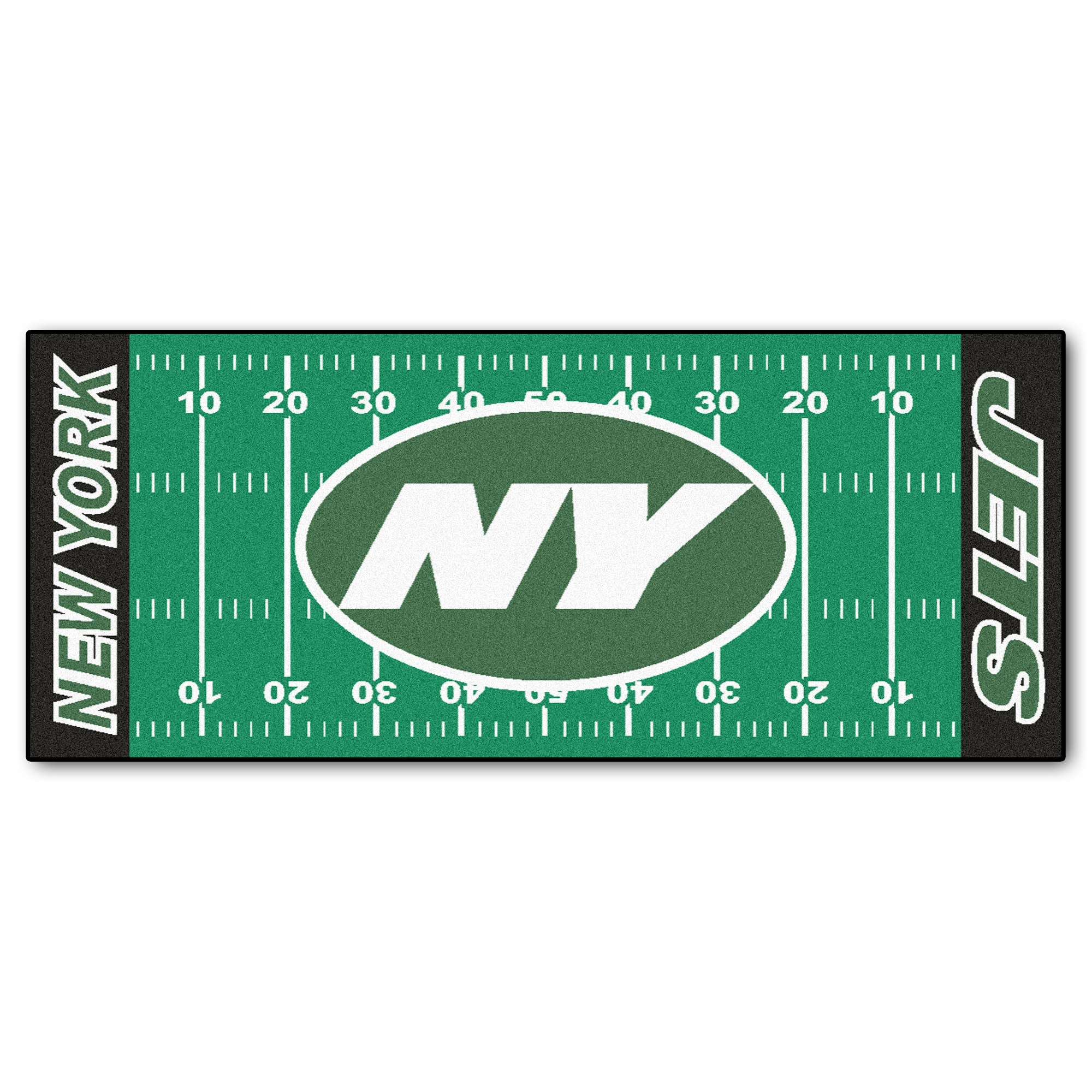 NFL New York Jets Football Field Runner Mat Area Rug